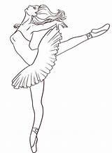 Ballet Coloring sketch template