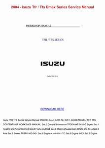 Isuzu Dmax Service Manual 2003