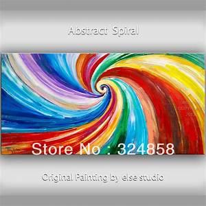Moderne Kunst Leinwand : abstrakte malerei lgem lde spirale farbe wohnkultur wand kunst m belzubeh r moderne kunst auf ~ Sanjose-hotels-ca.com Haus und Dekorationen