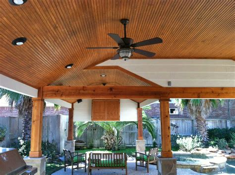 Patio And Outdoor by Patio Cover With Wood Columns And Outdoor Kitchen Hhi