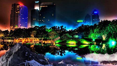 hd  landscape  city buildings  city lights