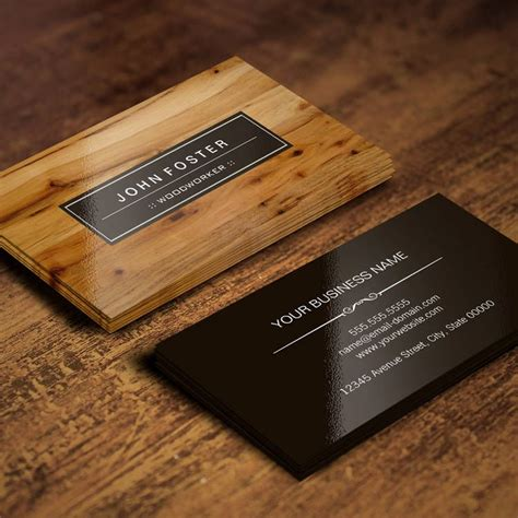 woodworker border wood grain business card zazzlecom