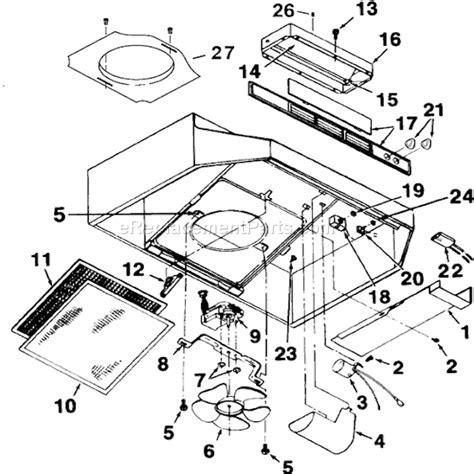 Broan 464201 Parts List and Diagram : eReplacementParts.com