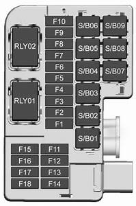 Buick Encore  2017  - Fuse Box Diagram