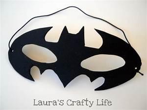 batman face mask template - how to make a batman mask laura 39 s crafty life