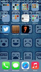 iPhone 5 icon wallpaper no longer works since updating to ...