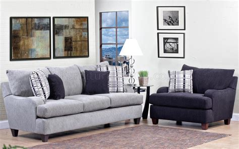 light grey fabric modern sofa accent chair set w options