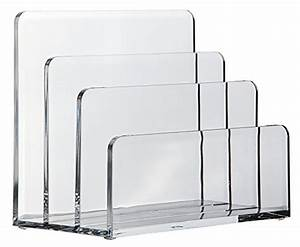 osco acrylic letter holder stationery desk accessories With lucite letter holder