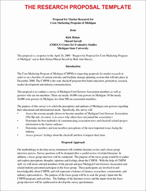 business proposal sample letter template editable