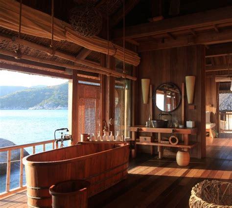 Moderne Badezimmer Holz by 60 Badezimmerideen F 252 R Den Au 223 Enbereich Freshouse