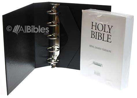 kjv loose leaf bible  binder black  ring binder