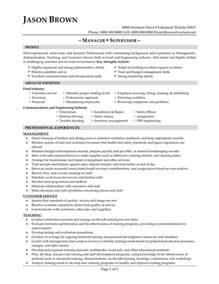 food service manager sle resume supervisor resume sle free call center supervisor resume sle customer service supervisor