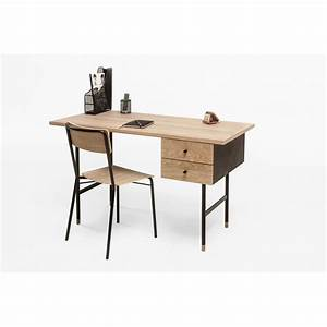 Bureau Bois Metal : bureau design bois et m tal jugend by drawer ~ Teatrodelosmanantiales.com Idées de Décoration