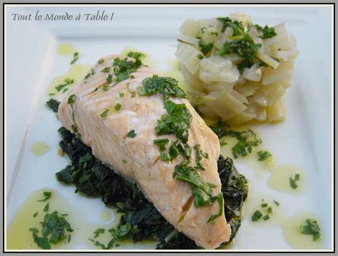 cuisiner les cotes de bettes saumon aux bettes et sa vinaigrette aux herbes tout le