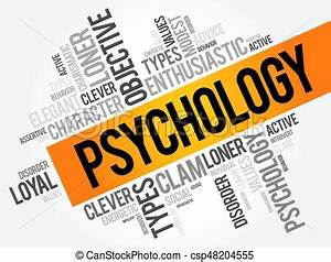Psychology word cloud collage , social health concept ...
