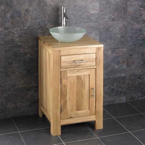 mm square alta oak vanity cloakroom storage unit