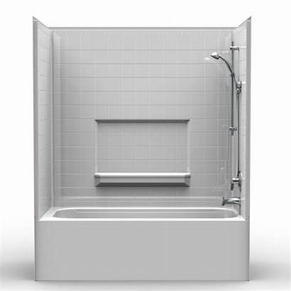 Tub Shower Combo Height V2 Piece Tile