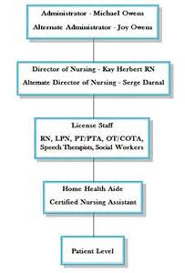 Home Health Agency Organizational Chart