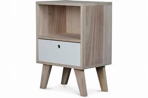 Table De Chevet Scandinave Pas Cher : table de chevet style scandinave en bois 1 tiroir 36x25x50 ~ Melissatoandfro.com Idées de Décoration