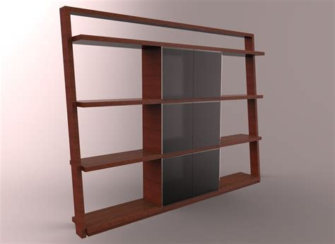 Wooden Wardrobe With Shelves by Wooden Wardrobe With Open Shelves Free 3d Model Max Obj
