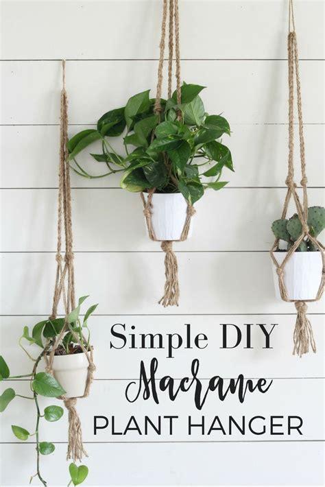 decorative plant hangers indoor simple diy macrame plant hanger with tutorial home