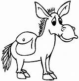 Coloring Pages Donkey Colouring Printable Christmas Mule Mexico Animals Cartoon Baby Mexican Funny Print Animal Silly Little Preschool Long Getcoloringpages sketch template