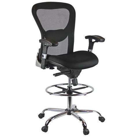 Drafting Chair With Arms deluxe mesh drafting stool with arms