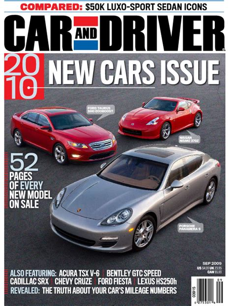 car and driver car and driver magazine september cover