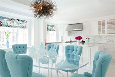 turquoise button tufted upholstered chairs tropical