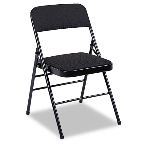 deluxe fabric padded seat back folding chairs by cosco