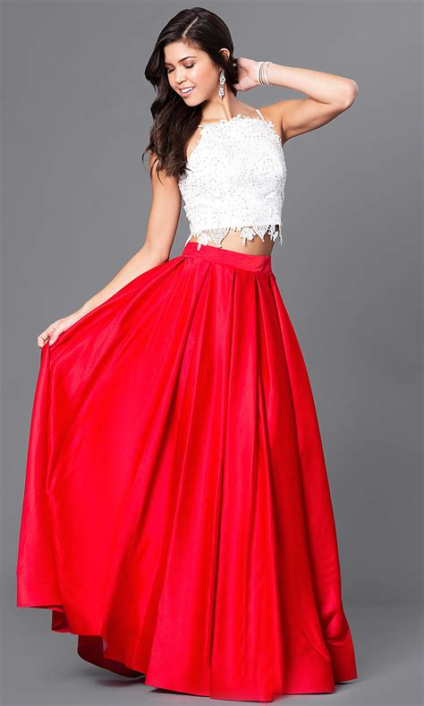 dave  johnny  piece ball gown promgirl