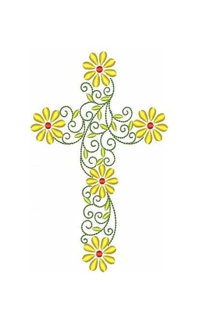 Clipart Cross Clip Crosses Religious Swirl Bible