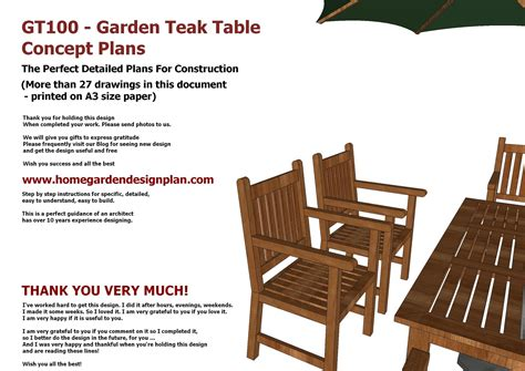 home garden plans gt garden teak tables