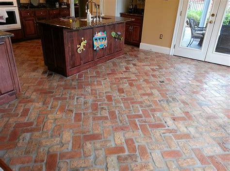 brick paver kitchen floor brick tile flooring ideas to present a classic appearance 4888