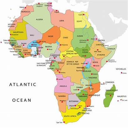 Africa Map African Regions Countries Different Urban