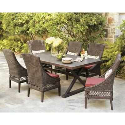 home depot patio cushion set hton bay woodbury 7 patio dining set with