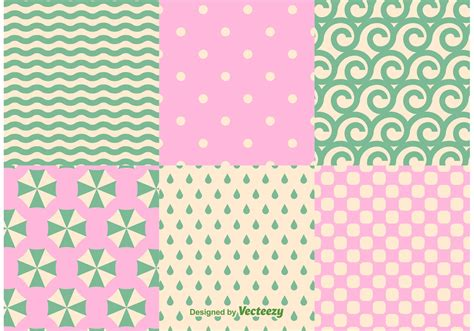 Abstract Pastel Summer Beach And Ocean Pattern Vectors  Download Free Vector Art, Stock