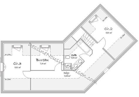 chambre en perspective plan de maison traditionnelle gratuit plan maison plain