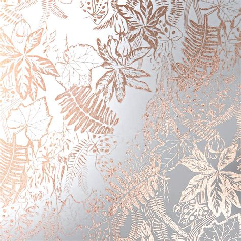 floral copper wallpaper hothouse erica wakerly