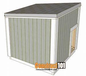 Large dog house plans construct101 for Large dog house blueprints