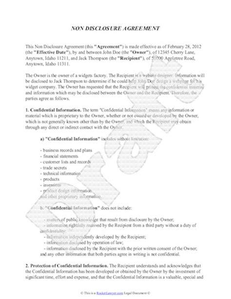disclosure agreement template  sample nda template