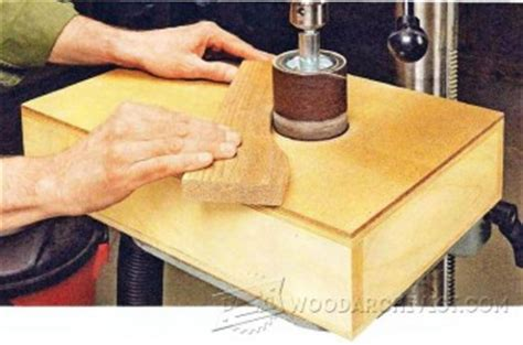drill press spindle sander woodarchivist
