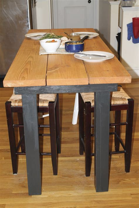 expandable kitchen island diy building bar height table plans free