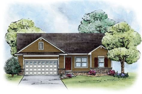Craftsman Style House Plan 3 Beds 2 Baths 1265 Sq/Ft