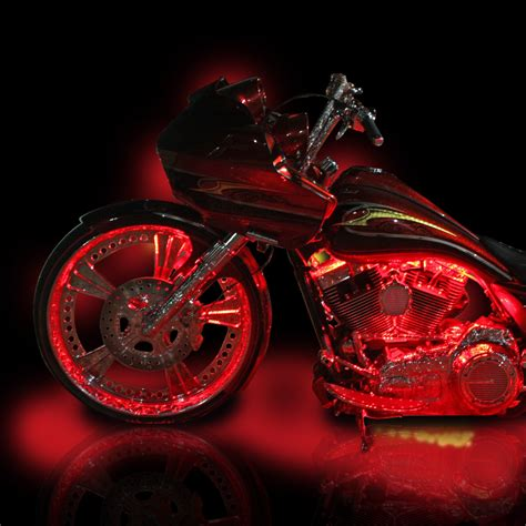 custom led lights harley davidson motorcycle led lights by custom dynamics