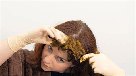 How To Apply Lush Henna Hair Dye Youtube
