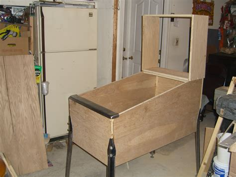 pinball cabinet build my on the cheap cabinet pinball cabinets