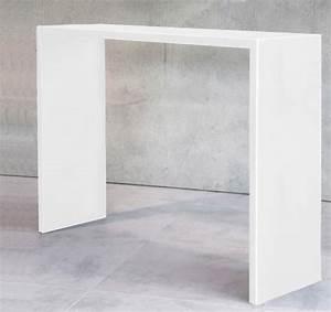 Console D Entrée Blanche : console entree blanche console d 39 entr e blanche allan meuble house achat vente console ~ Voncanada.com Idées de Décoration