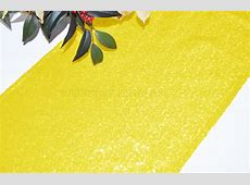 Canary Yellow Sequin Table Runners Wholesale