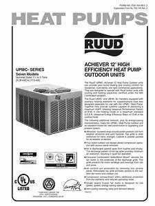 Ruud Umpc Series Manual